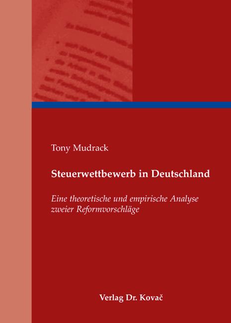 Cover: Steuerwettbewerb in Deutschland