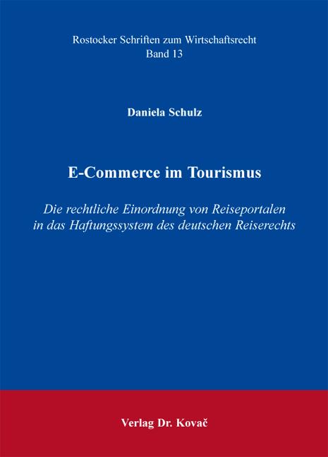 Cover: E-Commerce im Tourismus