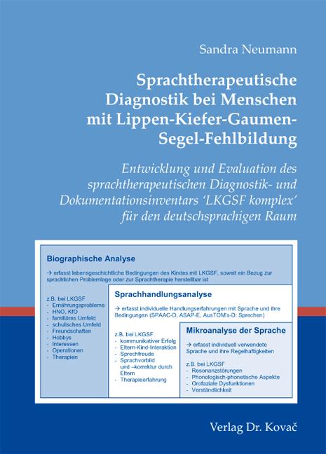 Cover: Sprachtherapeutische Diagnostik bei Menschen mit Lippen-Kiefer-Gaumen-Segel-Fehlbildung