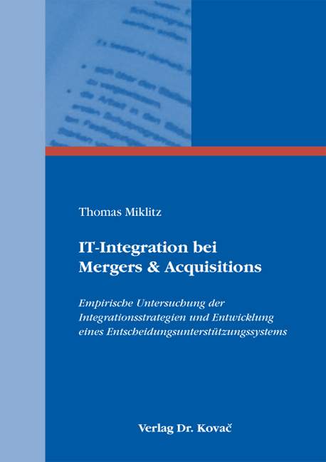 Cover: IT-Integration bei Mergers & Acquisitions