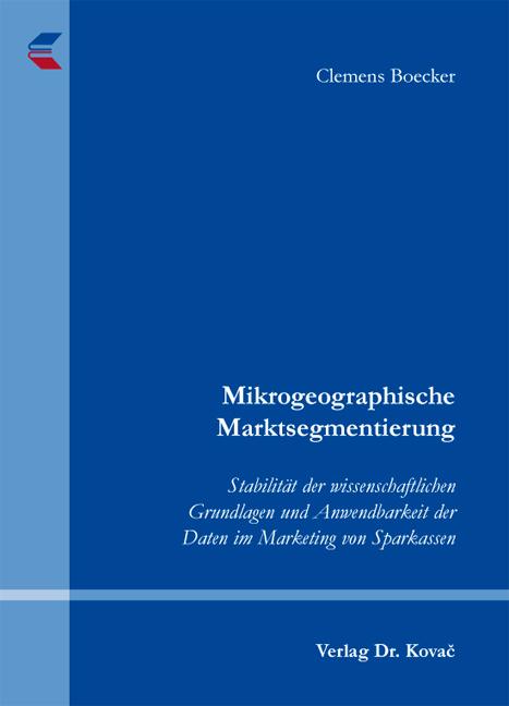 Cover: Mikrogeographische Marktsegmentierung