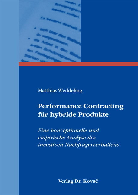 Cover: Performance Contracting für hybride Produkte