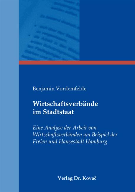 Cover: Wirtschaftsverbände im Stadtstaat