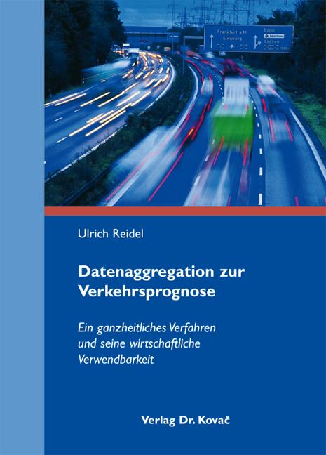 Cover: Datenaggregation zur Verkehrsprognose