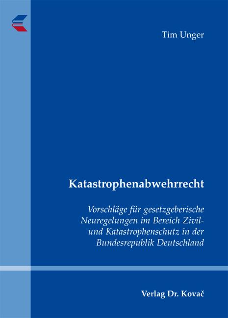 Cover: Katastrophenabwehrrecht