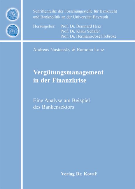 Cover: Vergütungsmanagement in der Finanzkrise