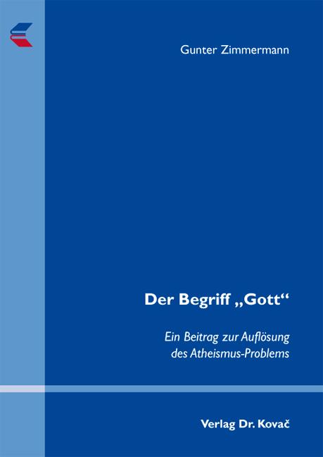 """Cover: Der Begriff """"Gott"""""""