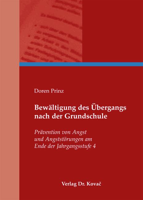 Cover: Bewältigung des Übergangs nach der Grundschule