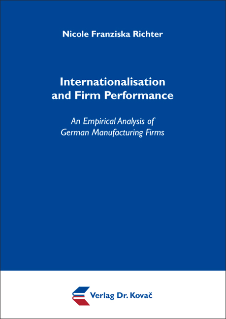 Cover: Internationalisation and Firm Performance