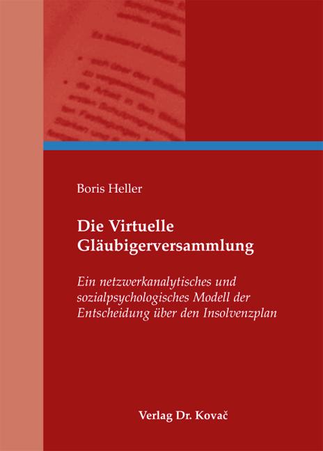Cover: Die Virtuelle Gläubigerversammlung