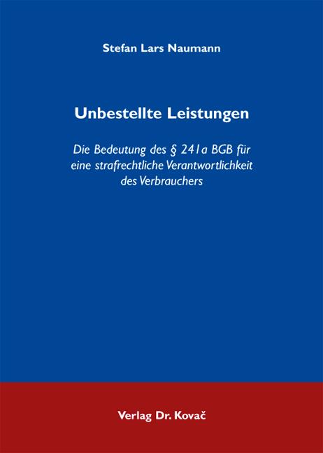Cover: Unbestellte Leistungen