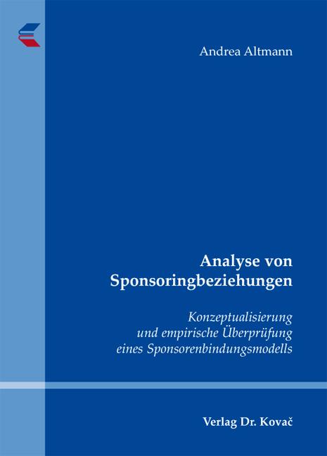 Cover: Analyse von Sponsoringbeziehungen