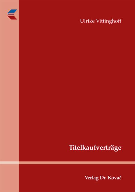 Cover: Titelkaufverträge