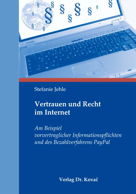 Cover: Vertrauen und Recht im Internet