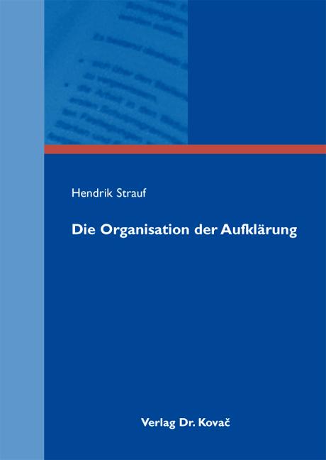 Cover: Die Organisation der Aufklärung