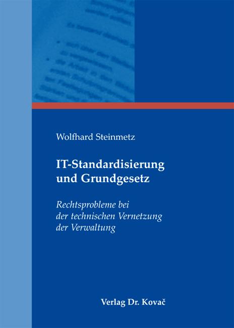 Cover: IT-Standardisierung und Grundgesetz