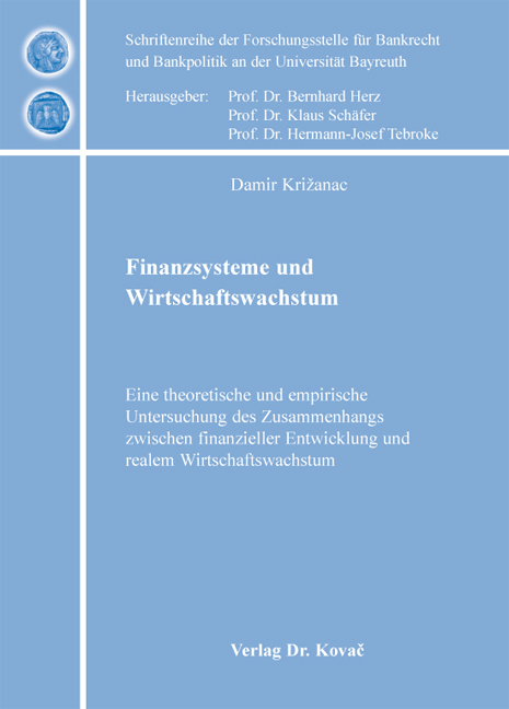 Cover: Finanzsysteme und Wirtschaftswachstum