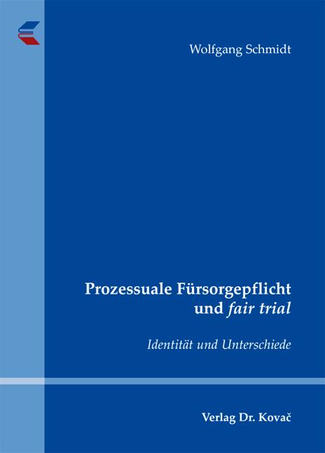 Cover: Prozessuale Fürsorgepflicht und fair trial