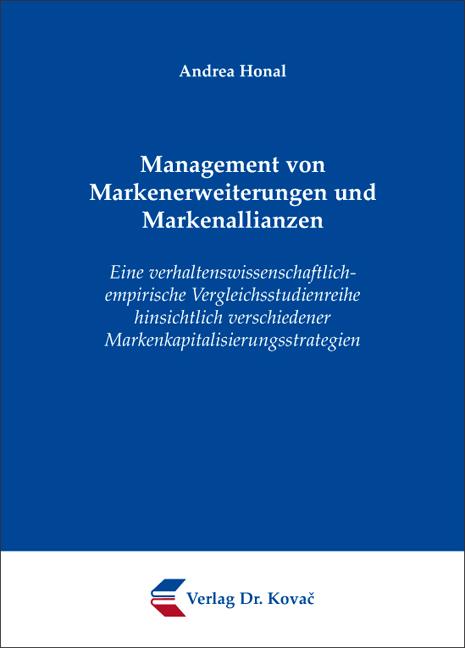 Cover: Management von Markenerweiterungen und Markenallianzen