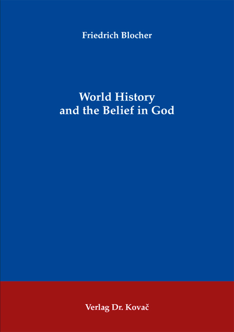 Cover: World History and the Belief in God