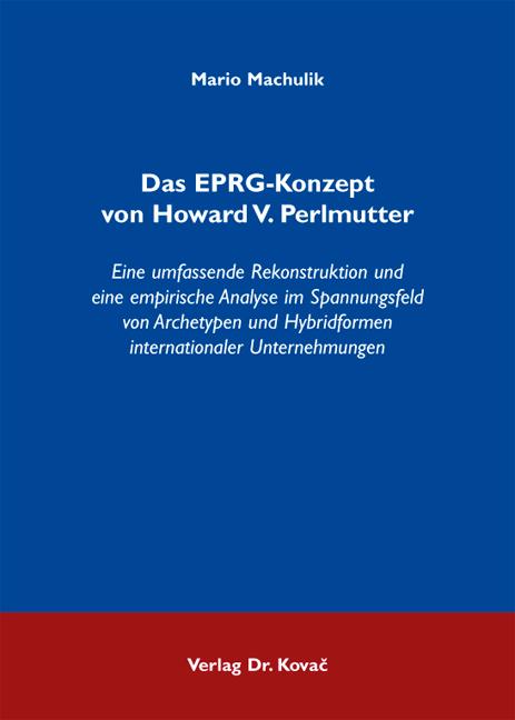 Cover: Das EPRG-Konzept von Howard V. Perlmutter