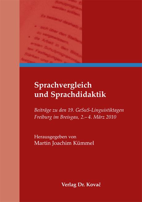 Cover: Sprachvergleich und Sprachdidaktik