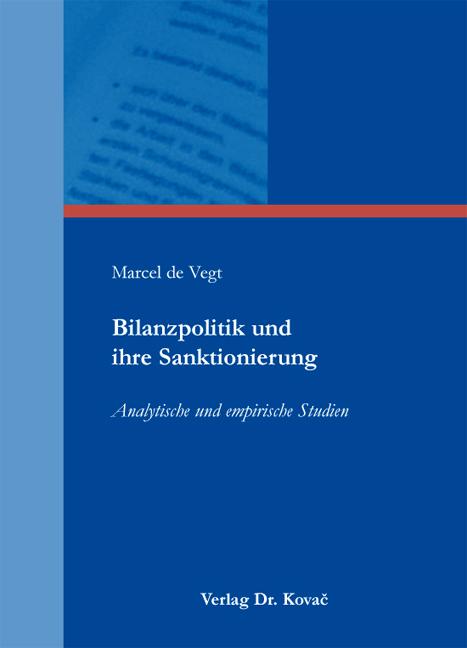 Cover: Bilanzpolitik und ihre Sanktionierung