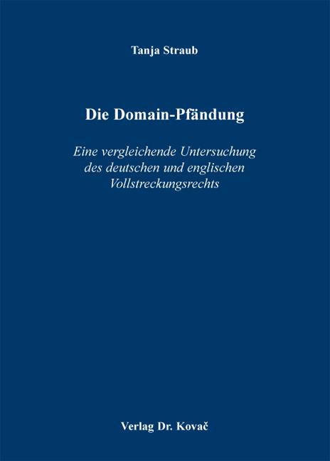 Cover: Die Domain-Pfändung