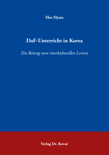 Cover: DaF-Unterricht in Korea