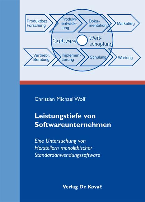 Cover: Leistungstiefe von Softwareunternehmen