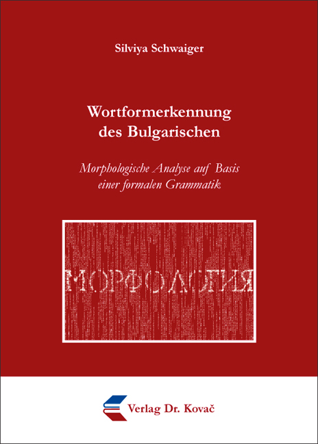 Cover: Wortformerkennung des Bulgarischen