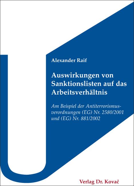 Cover: Auswirkungen von Sanktionslisten auf das Arbeitsverhältnis