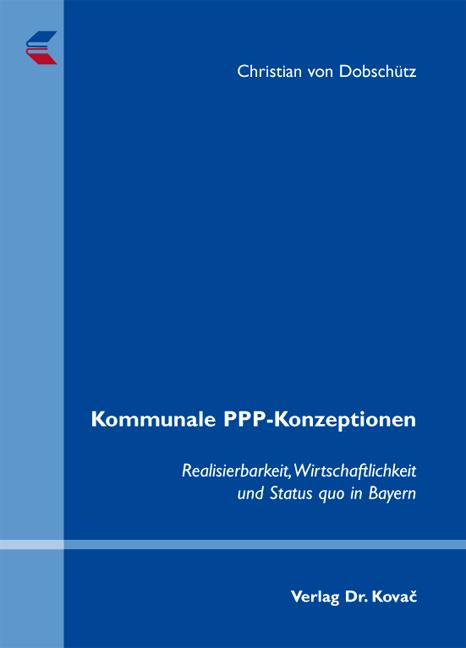 Cover: Kommunale PPP-Konzeptionen