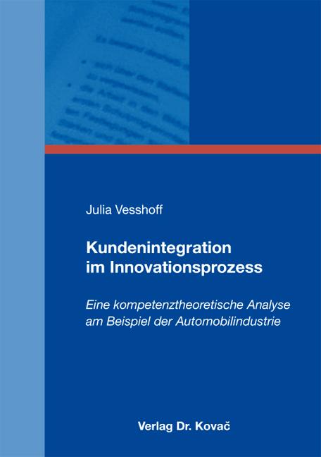 Cover: Kundenintegration im Innovationsprozess