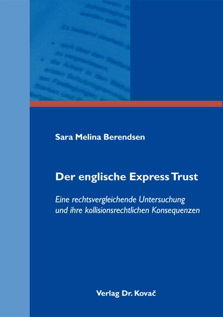 Cover: Der englische Express Trust