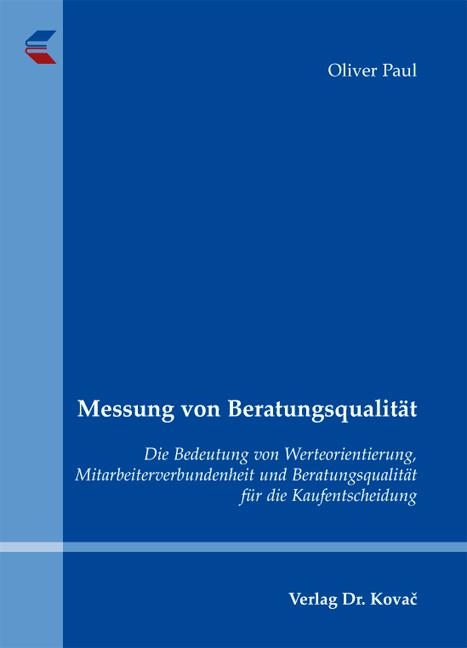 Cover: Messung von Beratungsqualität