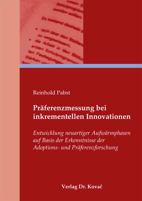 Cover: Präferenzmessung bei inkrementellen Innovationen