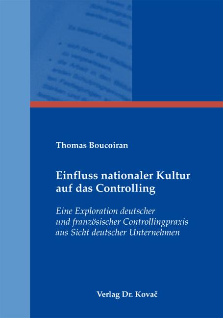 Cover: Einfluss nationaler Kultur auf das Controlling