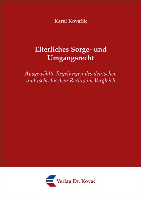 Cover: Elterliches Sorge- und Umgangsrecht