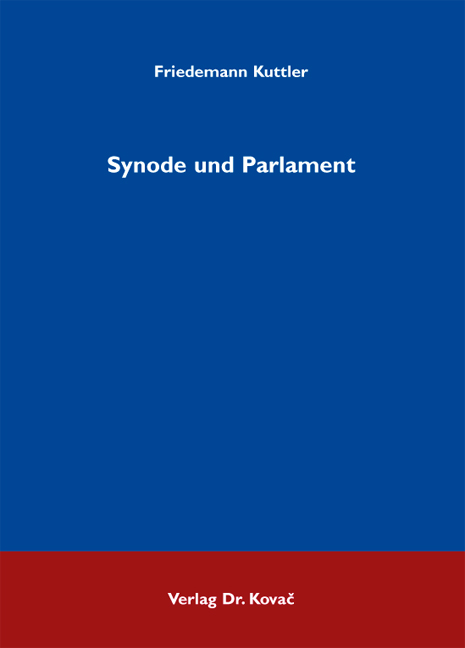 Cover: Synode und Parlament
