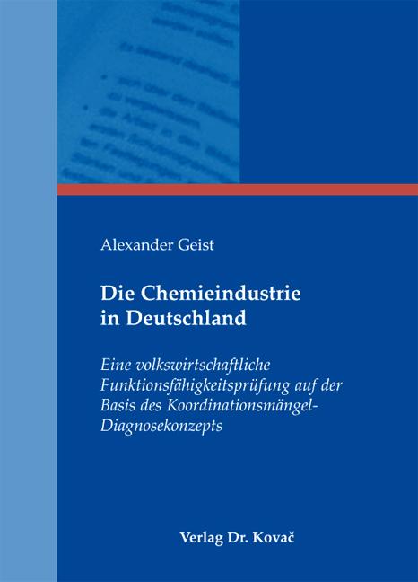 Cover: Die Chemieindustrie in Deutschland