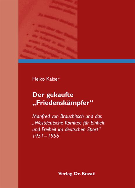 """Cover: Der gekaufte """"Friedenskämpfer"""""""