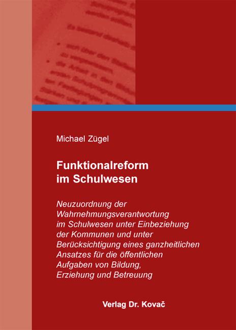 Cover: Funktionalreform im Schulwesen