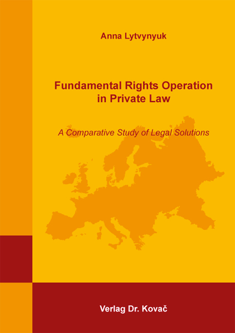 Cover: Fundamental Rights Operation in Private Law