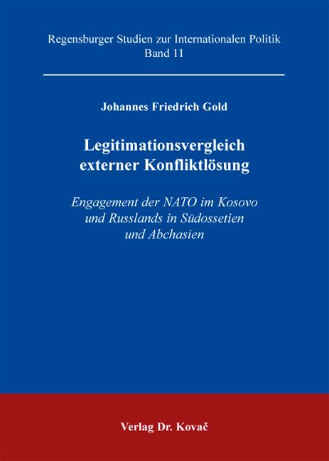 Cover: Legitimastionsvergleich externer Konfliktslösung