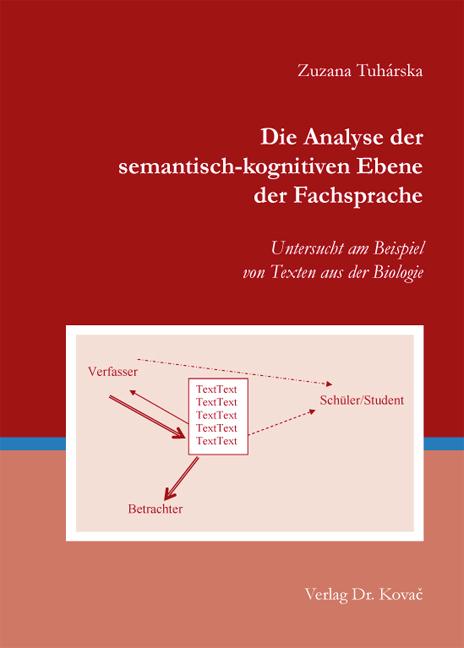 Cover: Die Analyse der semantisch-kognitiven Ebene der Fachsprache