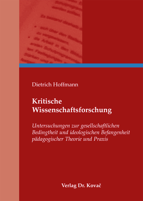 Cover: Kritische Wissenschaftsforschung