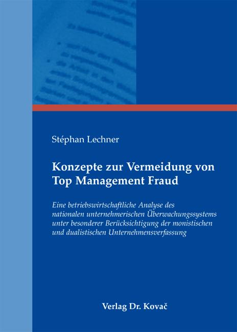 Cover: Konzepte zur Vermeidung von Top Management Fraud