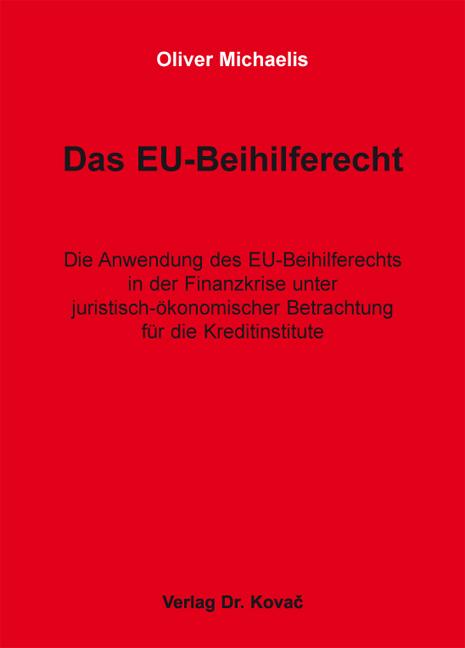 Cover: Das EU-Beihilferecht