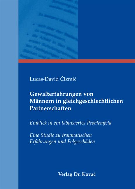 Cover: Gewalterfahrungen von Männern in gleichgeschlechtlichen Partnerschaften